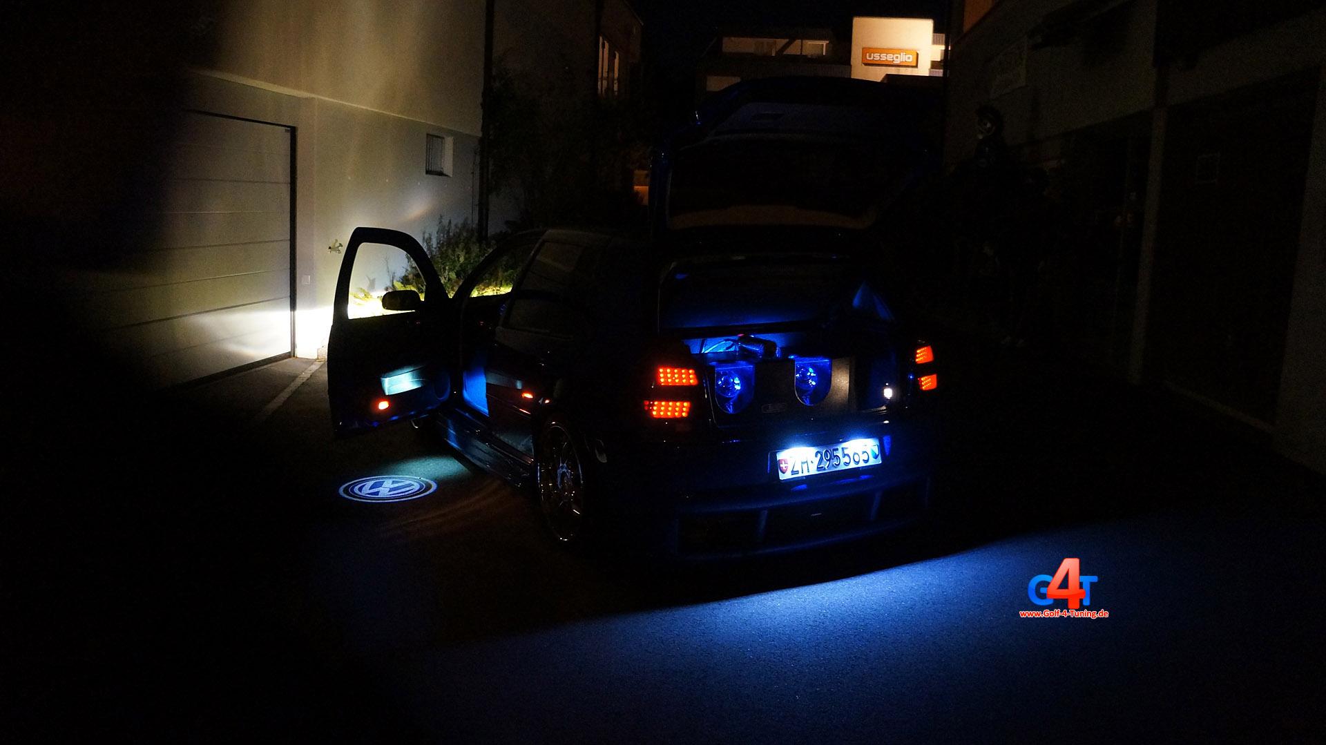 Auto Beleuchtung Tuning | Golf 4 Subwoofer Ubb Logo Led Licht Carlight