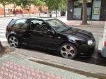 Schwarzer Golf 4 aus Spanien GTI Felgen