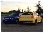 Audi Heck vs. Golf Front